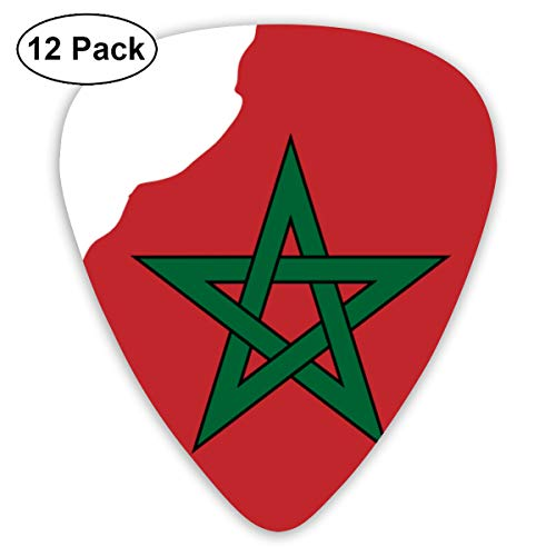 PDIYO Flag Map of Greater Morocco Suitable for Electric Guitars, Acoustic Guitars, Guitar Selection£¨12 Pieces£.