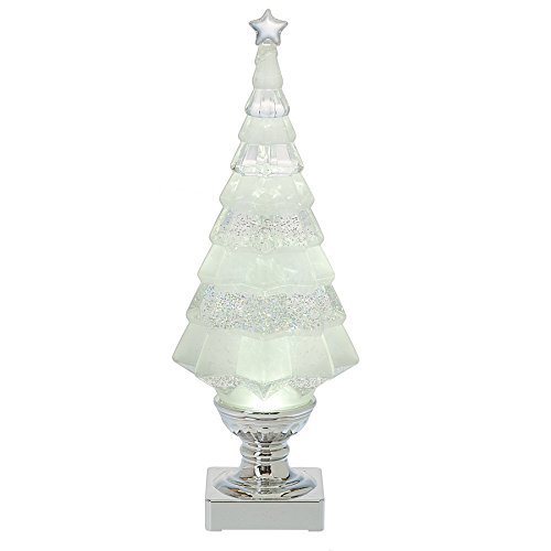 Shimmer Christmas Tree Clear LED Light Up 5 x 14 Inch Acrylic Tabletop Figurine