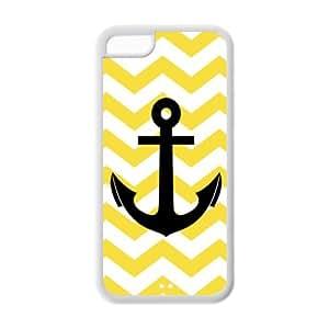 Custom Chevron Anchor Back Cover Case for iPhone 5C GPJ-415