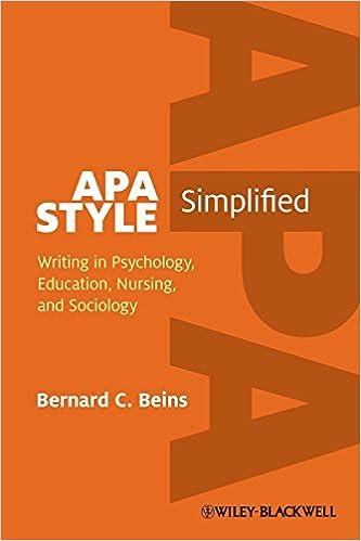 writing in apa style