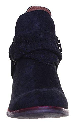 Justin Reece Mujer Descamación perforados Ankle Boot Black TF1
