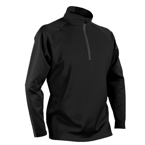 (Sun Mountain Mens Thermalflex 1/2 Zip Pullover Black/Black L)