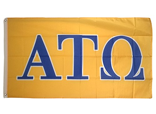 Alpha Tau Omega Letter Fraternity Flag Greek Letter Use as a Banner Large 3 x 5 Feet Sign Decor ATO