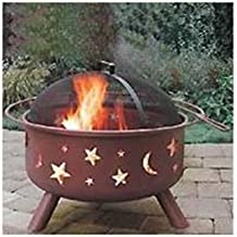 Fireside Escapes MW1142 29.5-Inch Stars and Moon Rusty Brown Fire Pit