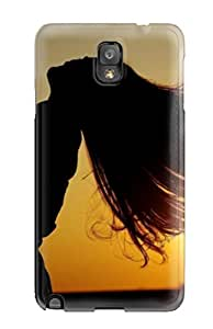 5089190K67034025 Cool Sunset Photography Of Guy And Girl Hairs Flying With Air Awesome High Quality Galaxy Note 3 Case Skin