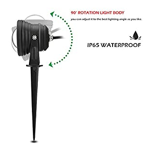 Garden Lawn Lights,Fornorm Outdoor Decorative Lamp Lighting RGB 10W Color Changing Remote Control Floodlight with Spike for Yard Patio Path Spotlight Lamp Waterproof DC 12V - Pack 4