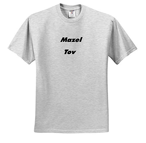 Lens Art by Florene - Jewish Humor and Sayings - Image of Large Size Words Mazel Tov - T-Shirts - Toddler Birch-Gray-T-Shirt (2T) (ts_307332_31)