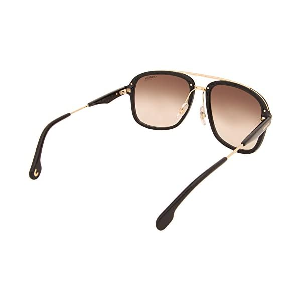 Carrera Men's Ca133s Aviator Sunglasses, Black Gold/Brown Gradient, 57 mm