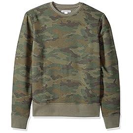 Amazon Essentials Patterened Crewneck Fleece Sweatshirt – Sudadera Hombre