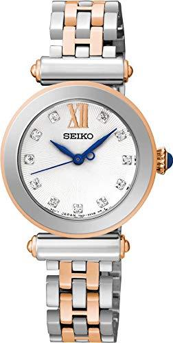 Stone Set Dial - Seiko Ladies Dress Watch, Stainless Steel/Rose Gold Tone Bracelet, Stone Set Dial - SRZ400P1