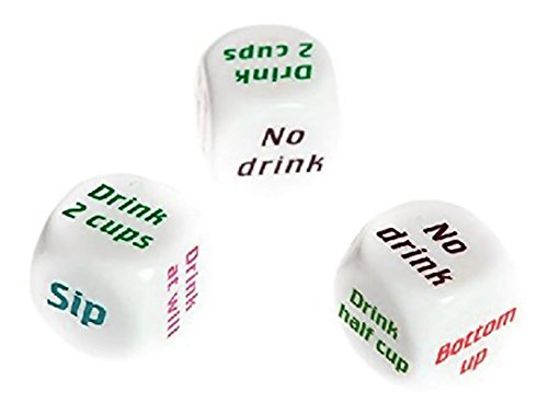 RoseSummer 3PCS Drinking Gaming Dice Bar Pub Party Game Supplies