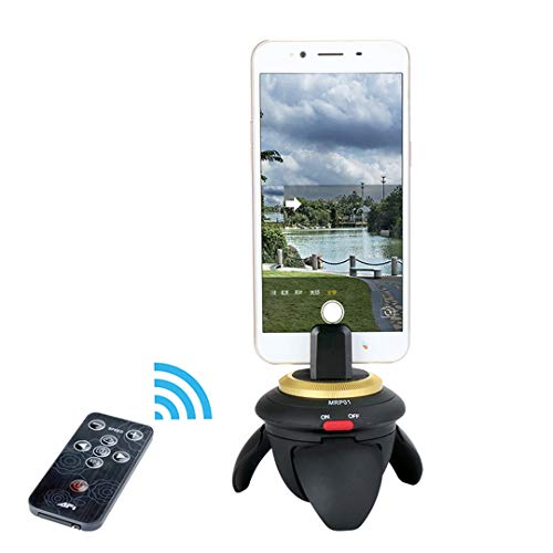 (360 Rotation Panorama Time Lapse Head Pan with Remote Control for GoPro Sjcam for iPhone X iPhone 8 7plus Smartphones)