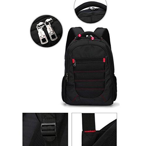 Travel Maroon Leisure Backpack Shoulders Multi Casual Business purpose Laidaye 8Xx7H