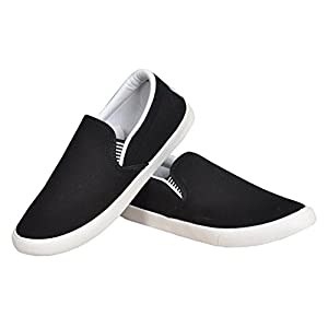 Ethics Perfect Black Grey Loafer Shoes for Men