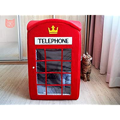 Cat Box London telephone booth cat house, Red phone box cat furniture,... [tag]