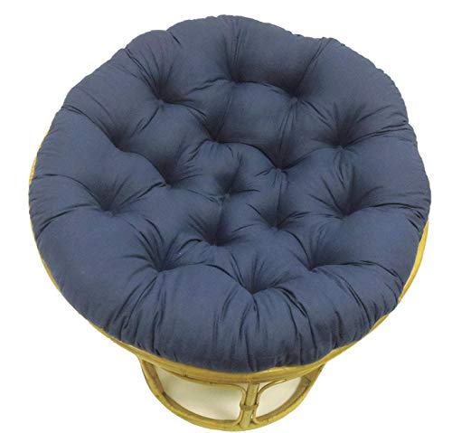 Cotton Craft Papasan Navy - Overstuffed Chair Cushion, Sink into our Thick Comfortable and Oversized Papasan, Pure 100% Cotton duck fabric, Fits Standard 45 inch round Chair - Chair not included