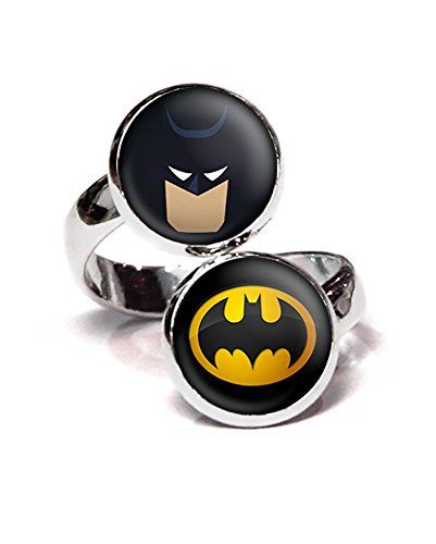 Batman Ring, Dark Knight Jewelry, Harley Quinn Necklace, Joker Earrings, Justice League Birthday Gift, Avengers Bridal Party Gifts