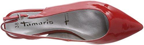 Tamaris Damen 29402 Slingback Sandalen Rot (Chili Patent)