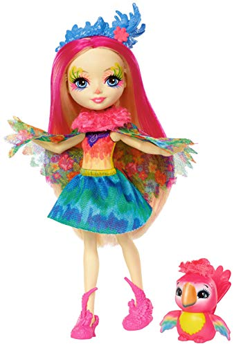 Enchantimals Peeki Parrot Doll & Sheeny