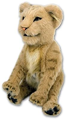 WoWWEe Alive Lion Cub Plush Robotic Toy In Tan