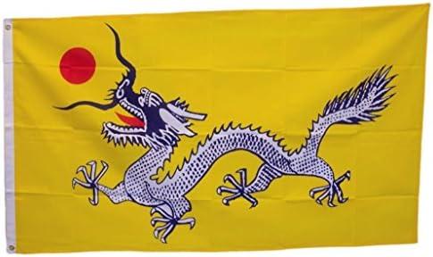 Bandera del antiguo Imperio chino 3 x 5 ft Qing Dinastía Dragón pre pueblos República de China: Amazon.es: Juguetes y juegos