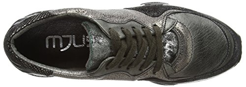 Mjus 689103-0101-0001 Damen Sneakers Silber (Inox+C.Di Fucile+Gelo+Metal+Nero+Lontra)
