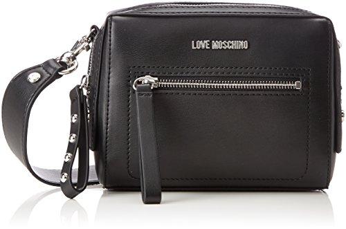 Love Moschino Borsa Soft Nappa Pu Nero - Borse Baguette Donna, (Black), 6x16x20 cm (B x H T)