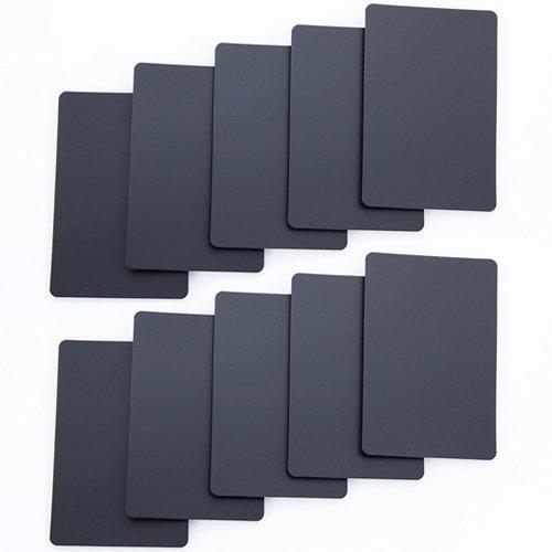 Brybelly Lot of 10 Bridge Size Cut Cards (Black) B013XSPOYC