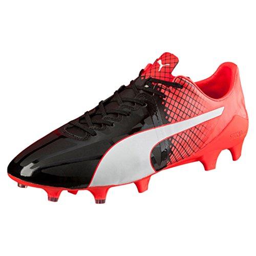 Puma Herren evoSPEED 1.5 Tricks FG Fußballschuhe schwarz - weiß - rot