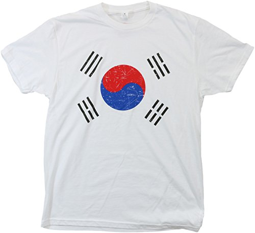 South Korea Pride | Vintage Style, Retro-Feel Korean Flag & Arms Unisex T-shirt