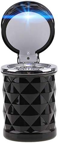EUEMCH 車の灰皿ブルーLEDライトタバコ灰容器スモークアッシュシリンダースモークカップホルダーオート