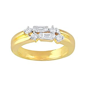 Giantti Daily Wear Women's 14KT Diamond Ring - IGL Certified ( 0.153 Ct, I1 Clarity, GH-Colour)