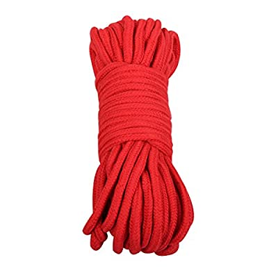 SWISH Soft Cotton Rope-32 Feet Length/10m, 64-Foot 20m Durable Utility Long Rope [5Bkhe1612142]