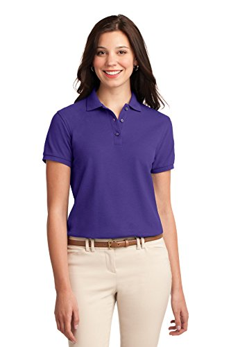 - Port Authority Women's Silk Touch Polo S Purple