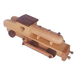 Desi Karigar Beautiful Mini Wooden Train Engine Replica Toy Showpiece