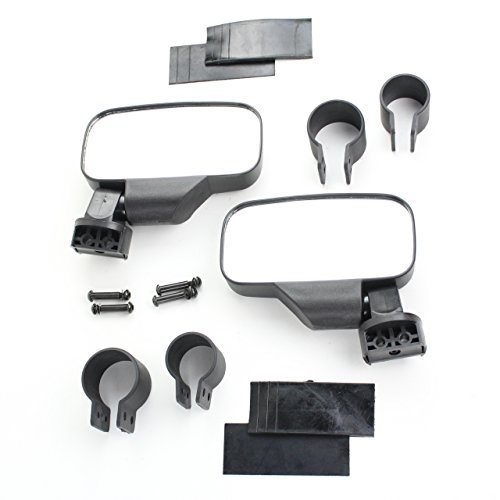 - Polaris Ranger 500 800 900 1000 Black UTV Side View Mirror Kit
