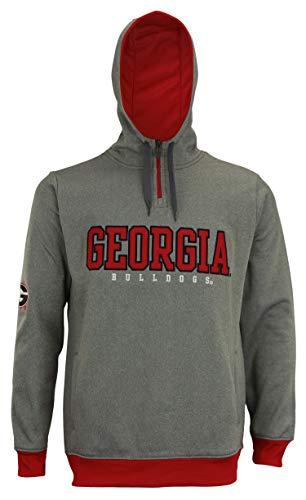 Georgia Bulldogs NCAA Fashion Men's 1/4 Zip Hooded Sweatshirt