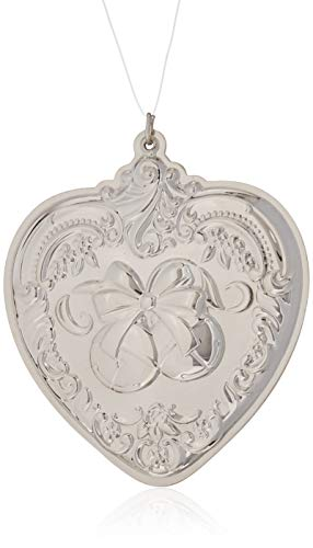 (Wallace 2018 Grand Baroque Heart Sterling Silver Christmas Holiday Ornament, 27th Edition,)