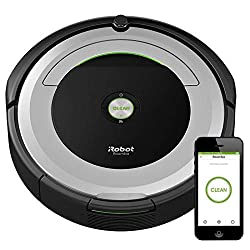 Connect to clean from anywhere with the Roomba® 690 robot vacuum. The patented 3-stage cleaning system is specially engineered to loosen, lift, and suction everything from small particles to large debris from carpets and hard floors. Dirt detect™ sen...