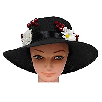 Edwardian Hats, Titanic Hats, Tea Party Hats Deluxe English Nanny Hat $39.99 AT vintagedancer.com