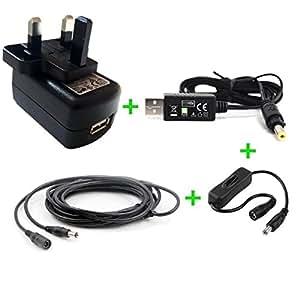 Cargador 5V compatible con Teléfono VoIP Snom 320 (Fuente de alimentación) - enchufe español