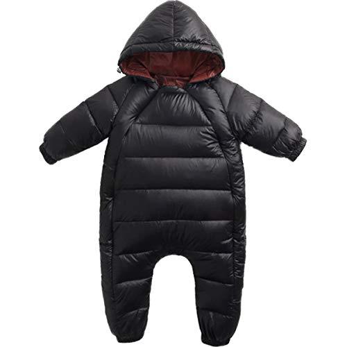 REWANGOING Baby Infant Toddler Girls Boys One Piece Winter Zipper Puffer Down Pram Suit Jumpsuit Snowsuit Romper 6-12 Months