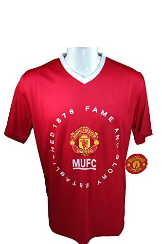 (Manchester United FC Soccer Official Adult Soccer Training Performance Poly Jersey Rhinox-01 Medium)