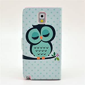 Sleepy Owl Stand Leather Protective Case Stand for Samsung Galaxy Note3 N9000(Package includes: 1 X Screen Protector and Stylus Pen image)