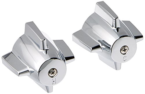 DANCO Easy-to-Install Pair of Faucet Handles for Central Brass, Chrome, 2-3/4-Inch x 2-3/8-Inch, 1-Pair (88264) ()