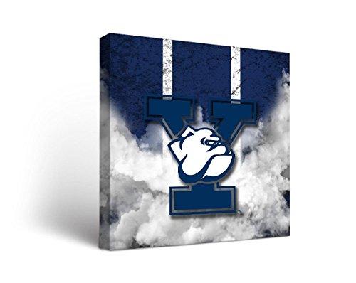 Victory Tailgate Yale University Bulldogs Canvas Wall Art Vintage Design (24x36)
