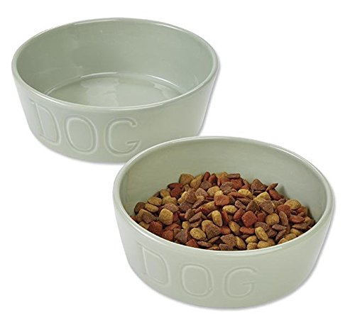 Bauer Pottery Dog Bowl, Gray, (Kentucky Pottery)