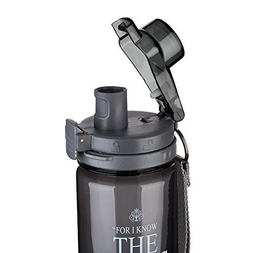 """I Know the Plans"" Black Plastic Water Bottle – Jeremiah 29:11"