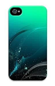 Abstract Green PC Case for iphone 4S/4