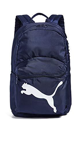 PUMA Women's Essential Backpack, Peacoat/White, One Size (Handbag Puma White)